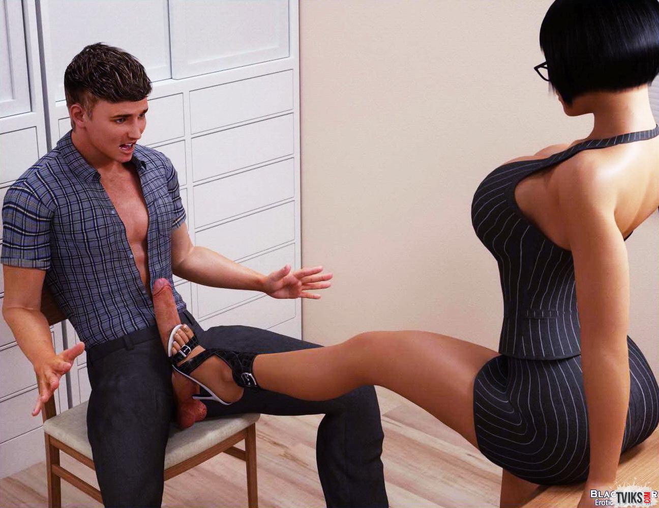 Порно с большегрудой секретаршей