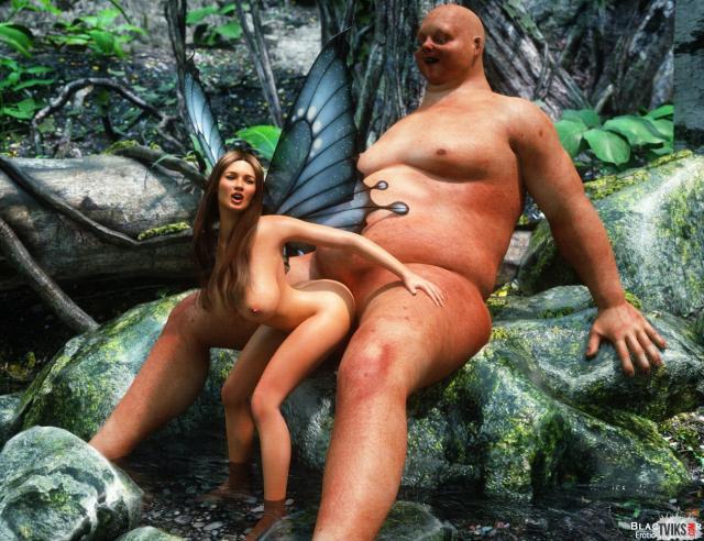 Огромный хуй из порно 3D и ебля на природе с голой дамой