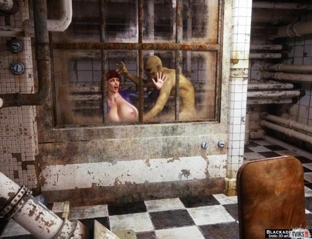 Порно 3D показывает жёсткое изнасилование голой тёлки