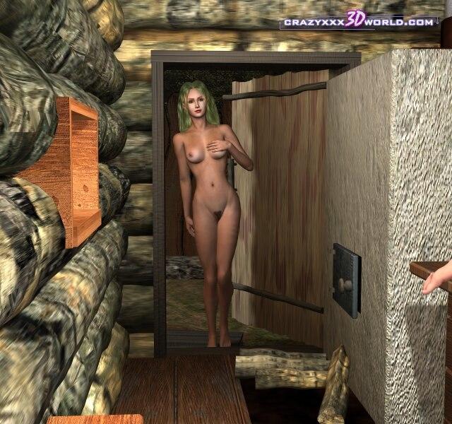 Порно 3D с грудастой девкой и вагинальным сексом
